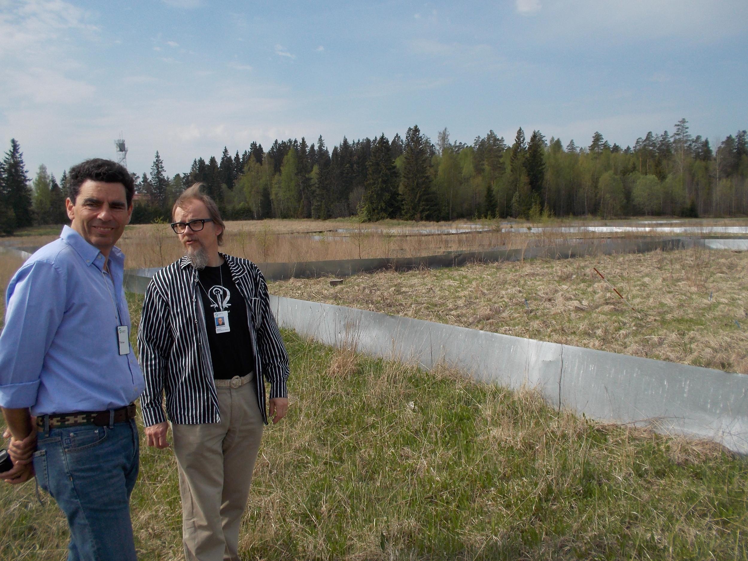 Kari and Inigo, Meadow Fescue Project in Finland.