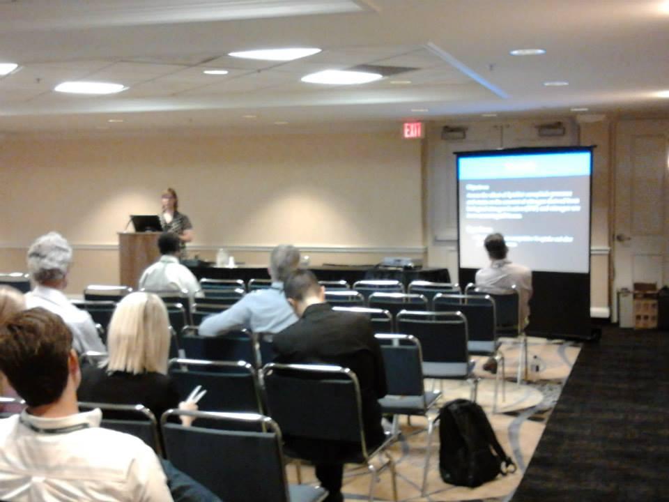 Lindsey Slaughter giving her award-winning presentation at the ASA-CSA-SSSA conference in Long Beach, CA.