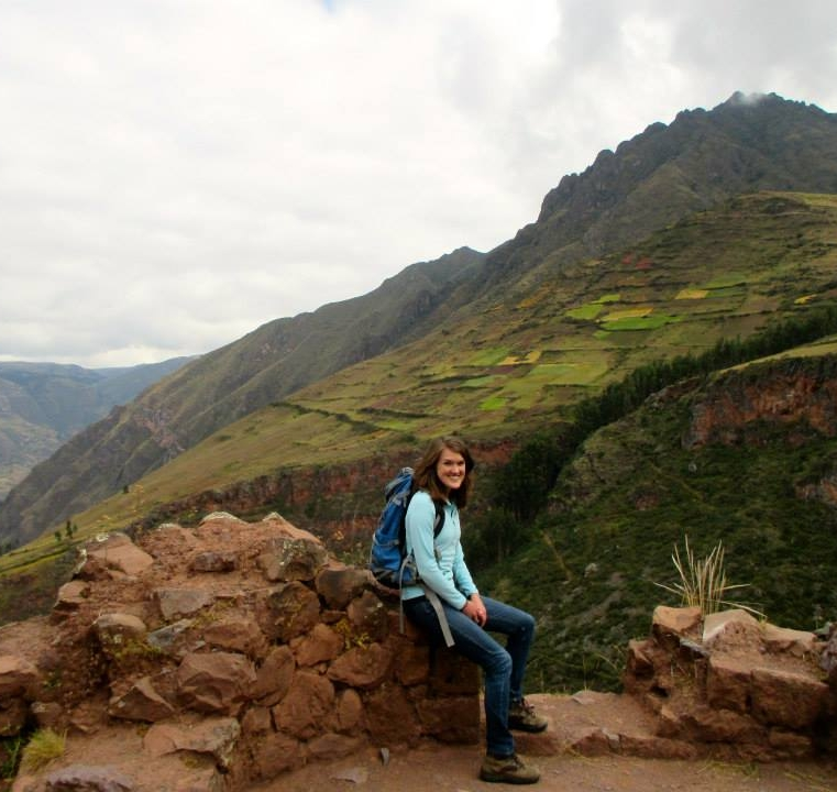Becca in Peru.