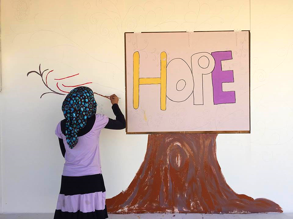 Our BOB Kids in collaboration with Kayany Foundation undertaking their newest school art project to promote hope and peace.