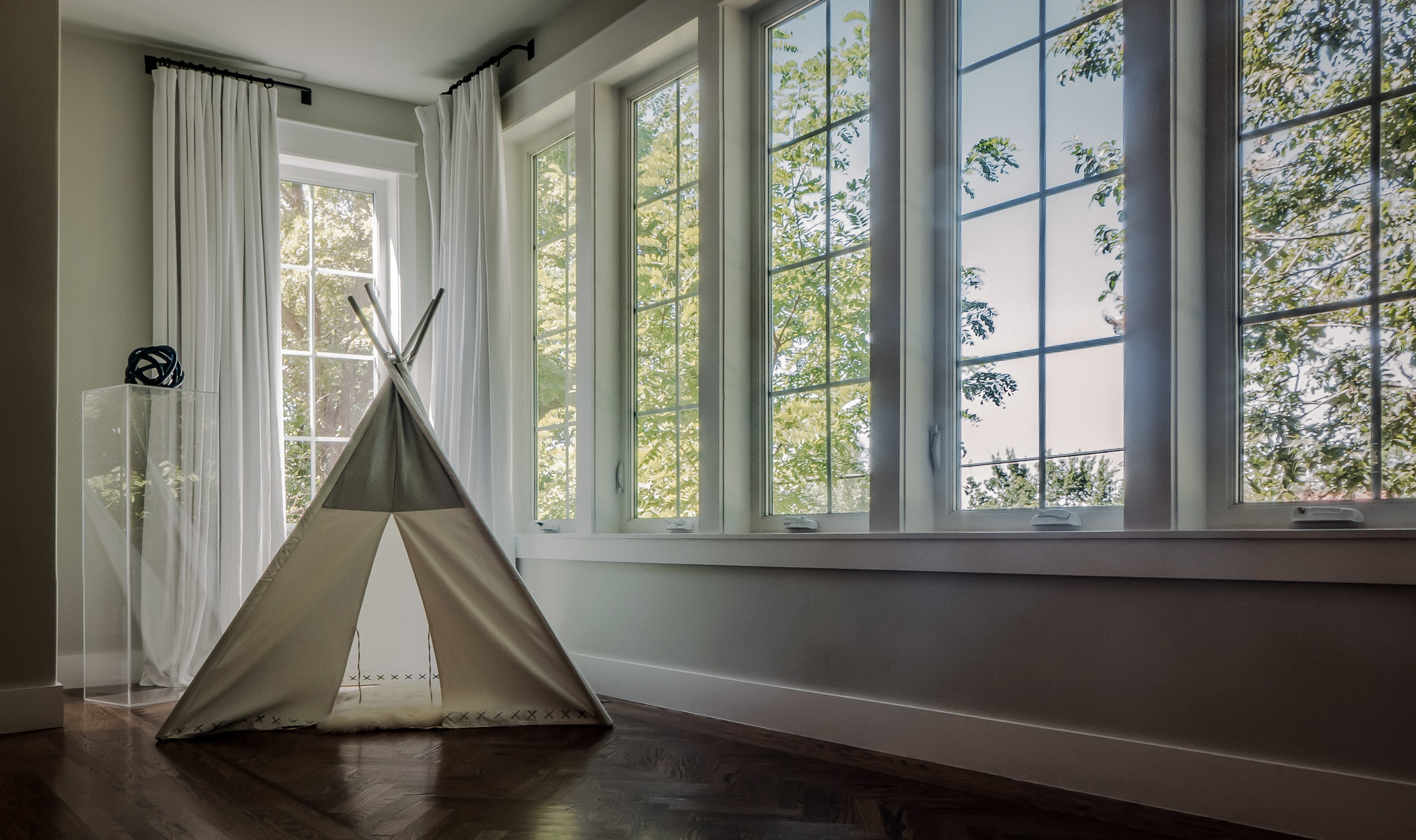 A small tipi - looks great in the living room!
