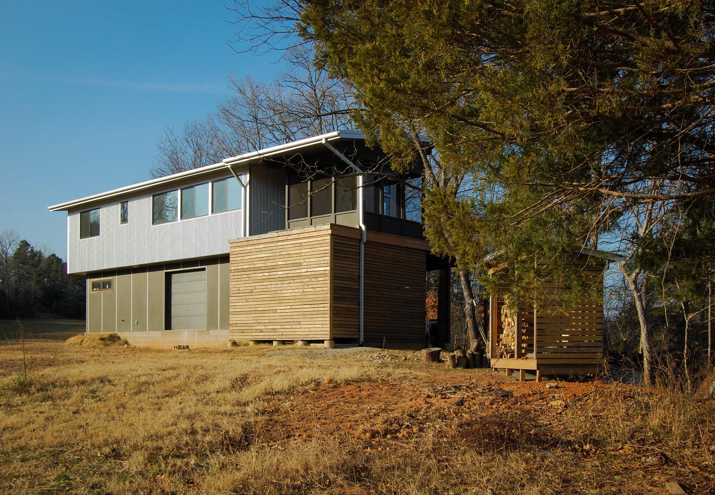 Matching firewood shed