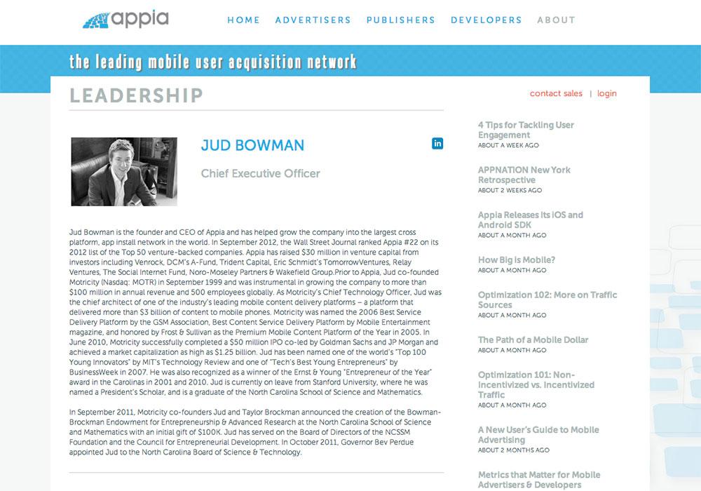 Appia- Older Leadership design