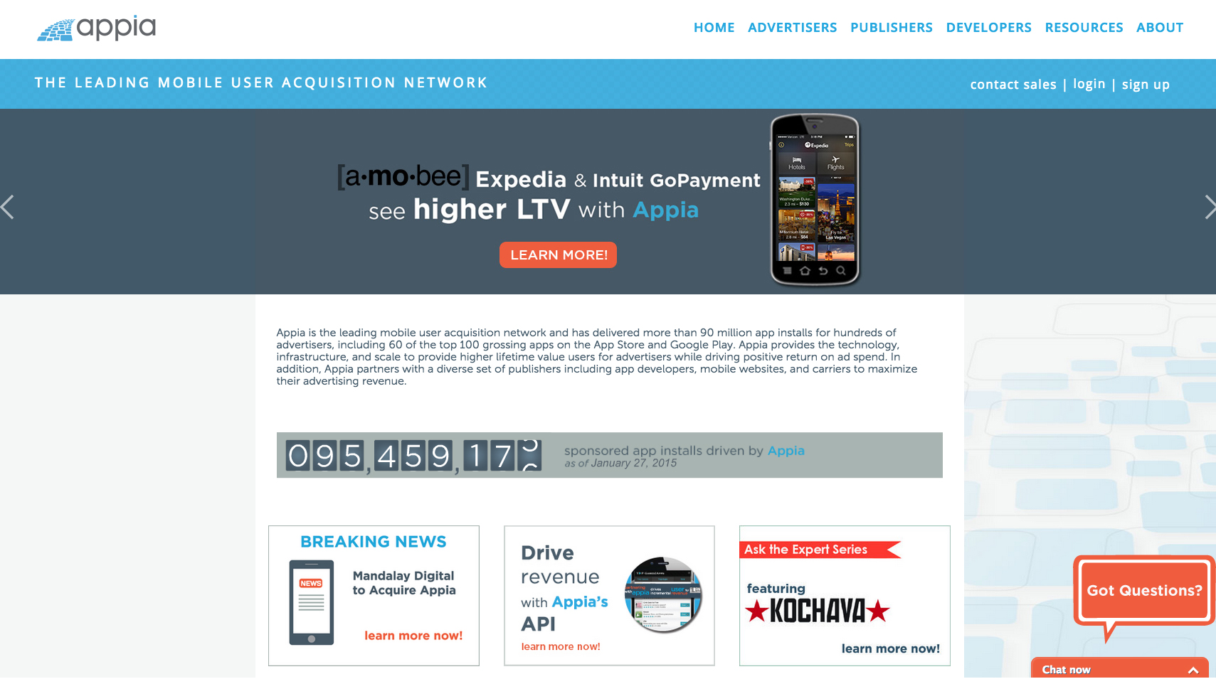 Appia- Newer Homepage design
