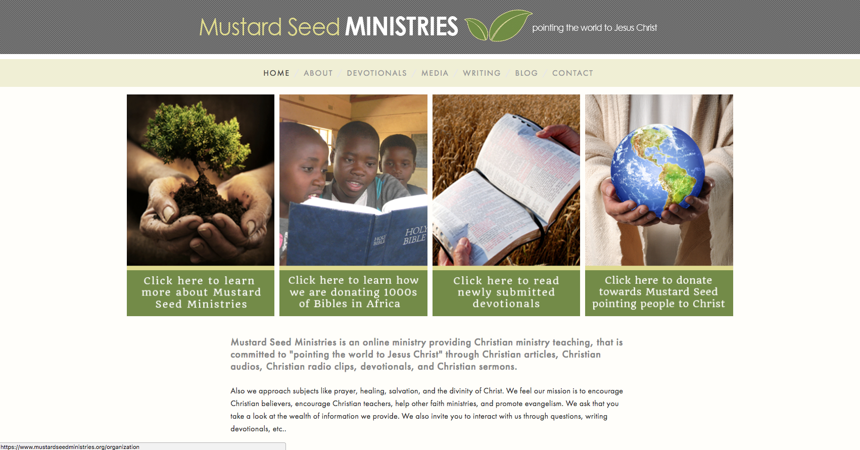 Mustard Seed Ministries Home Page