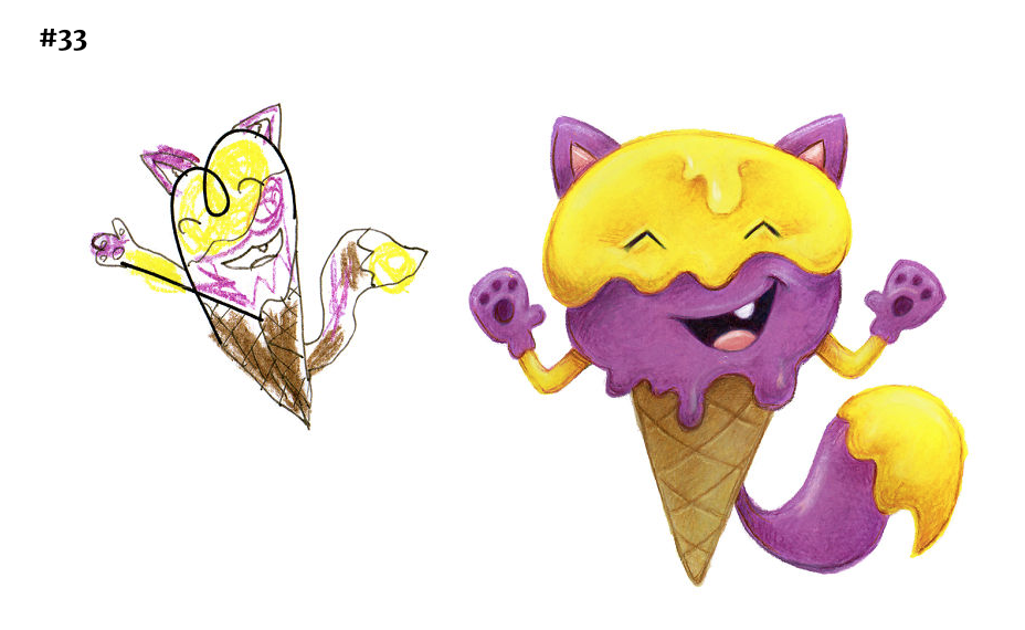 It's an ice cream kitten, a happy one at that