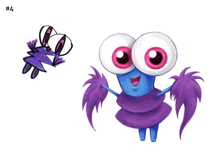 Happy big eyed alien!