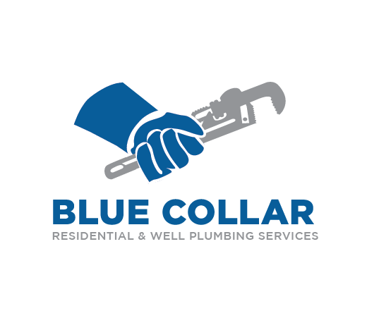 Vertical and Facebook version of Blue Collar Plumbing Brand