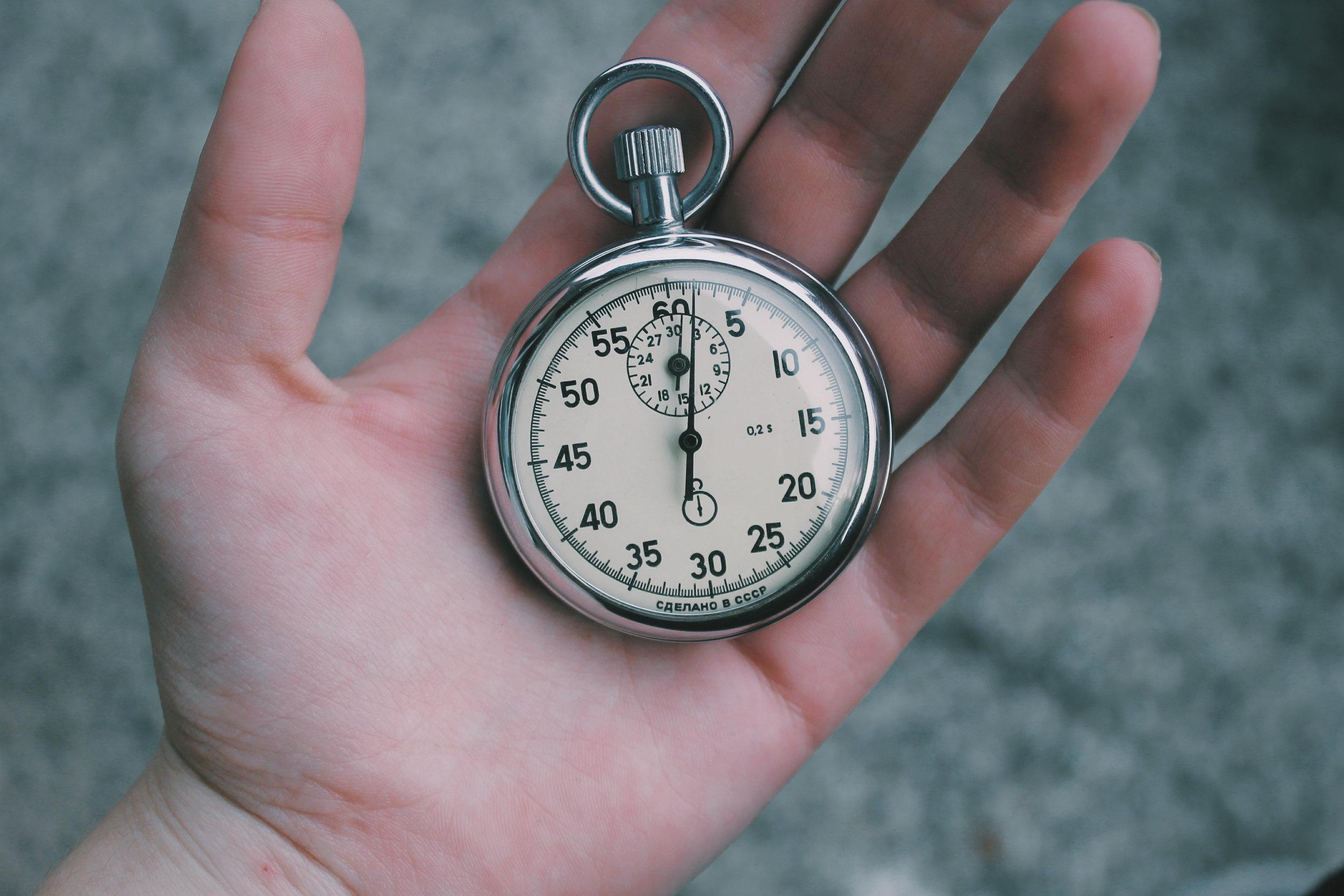 Website Proposal Deadline Stopwatch