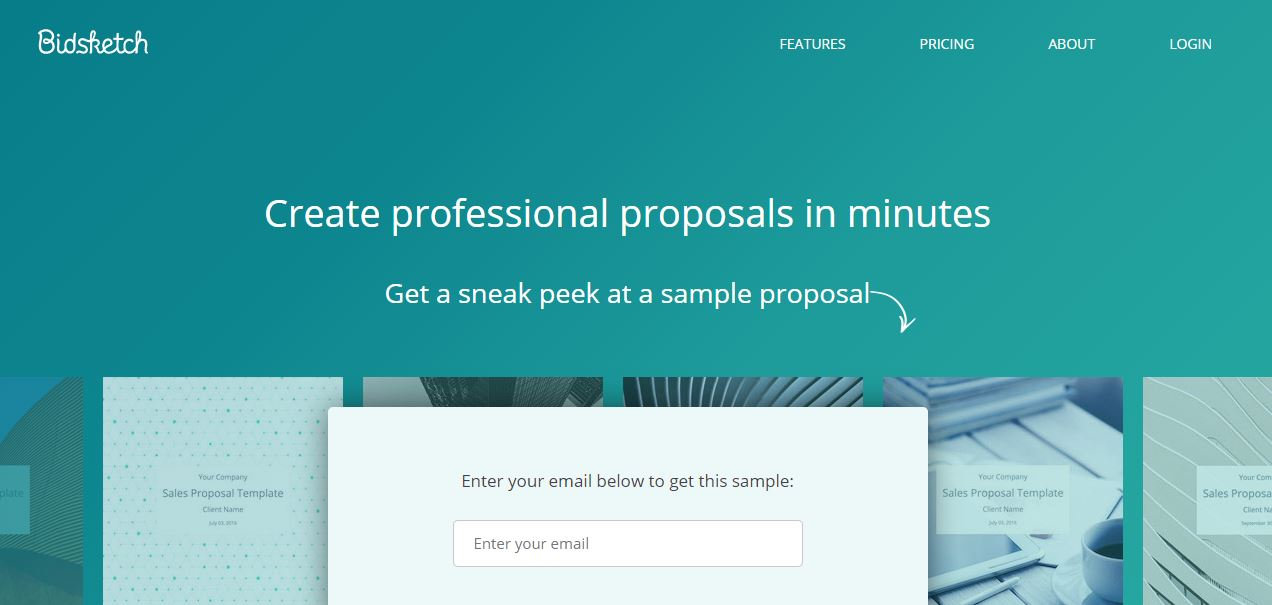 Bidsketch proposal visual example
