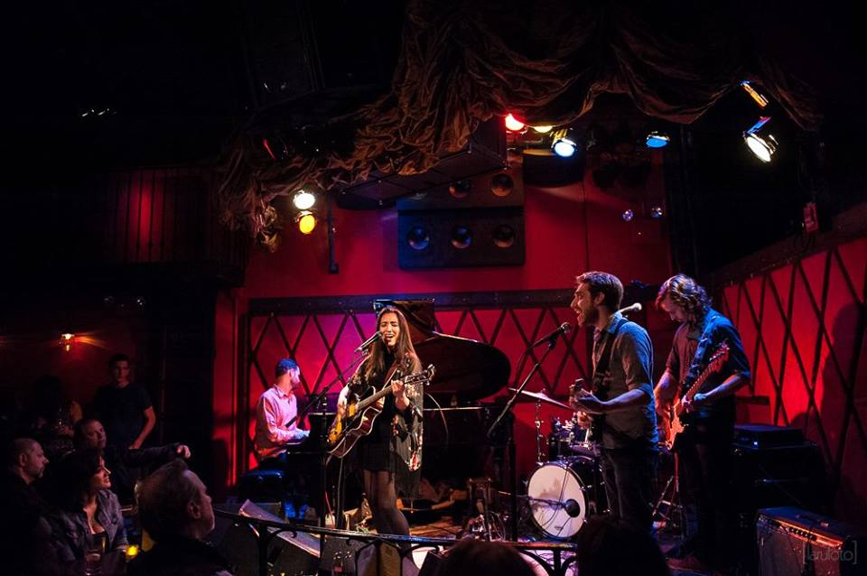 Raye Zaragoza live at Rockwood music Hall. Photo courtesy of  Larufoto