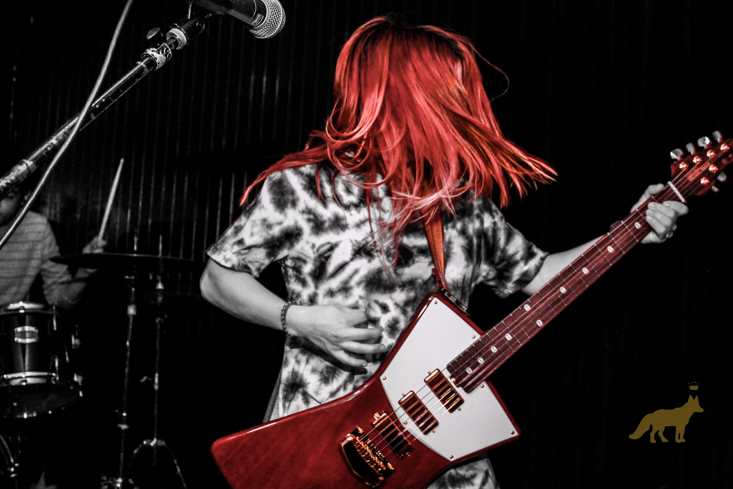Danielle Minch at guitar during our #WomenInRock show. Photo courtesy of Kevin Vallejos.