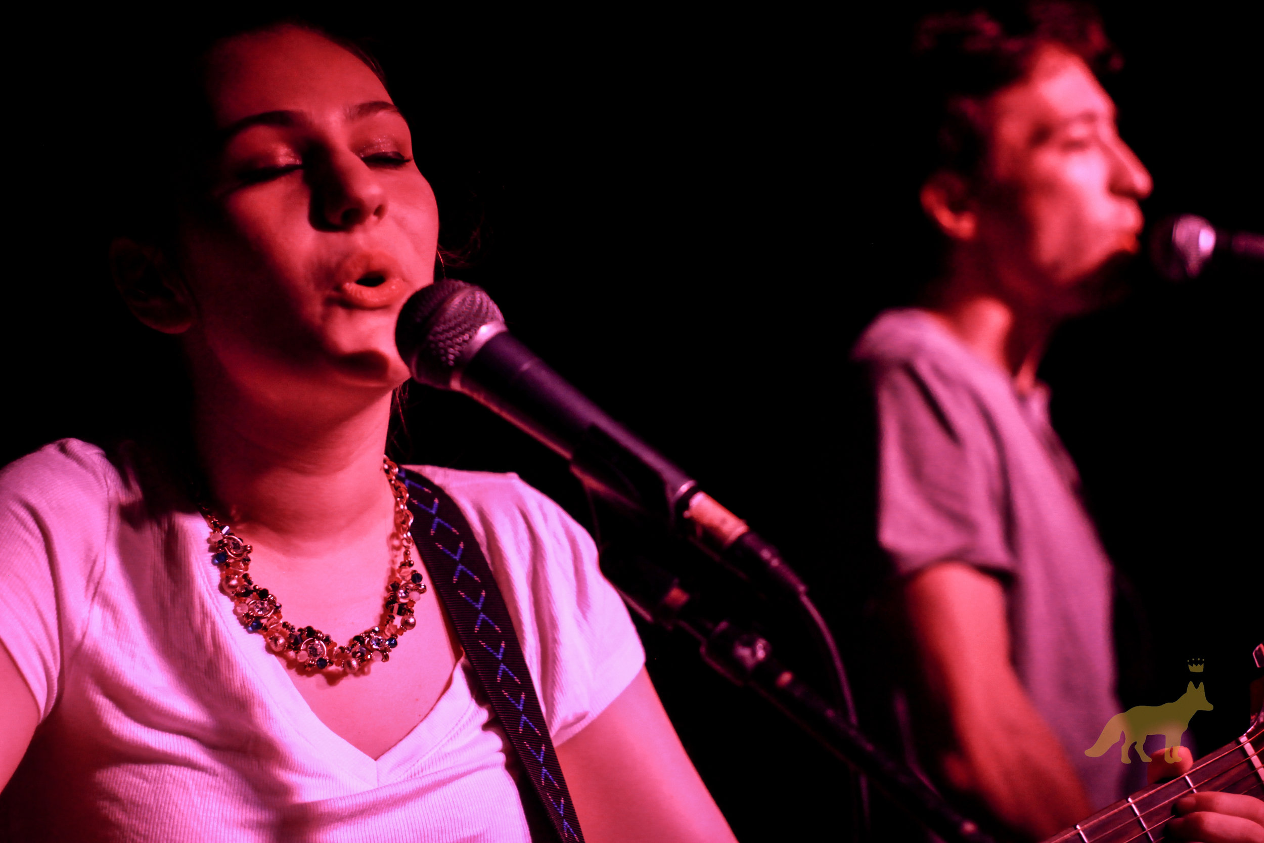 Katie Zaccardi crooning the night away at our #WomenInRock show. Photo courtesy of Kevin Vallejos.