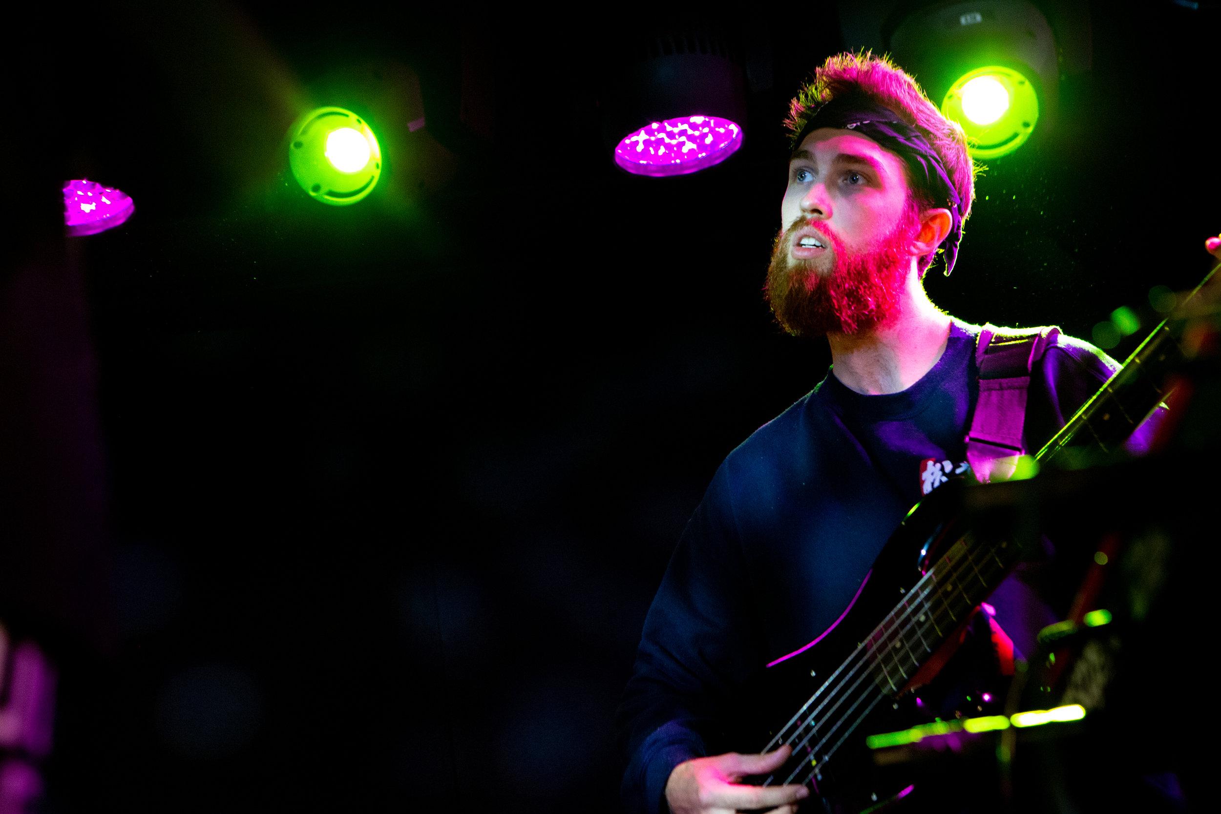 David Cutler on bass at Mercury Lounge. Photo courtesy of Sergio Carrasco.