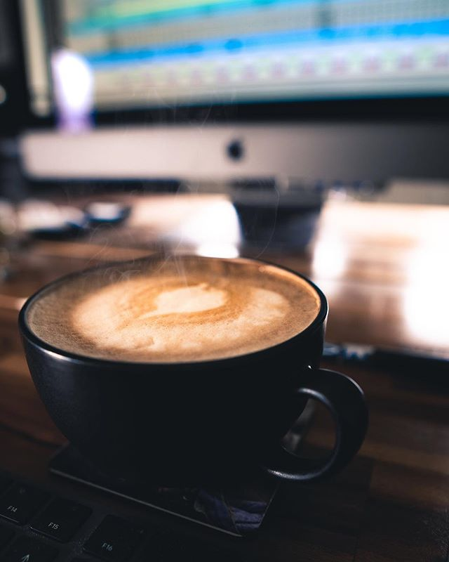 Doing some work on an EP for @matthewcrampsey today, but first... Coffee!  @exchange_coffee