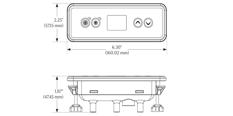 in.k300 keypad dimensions