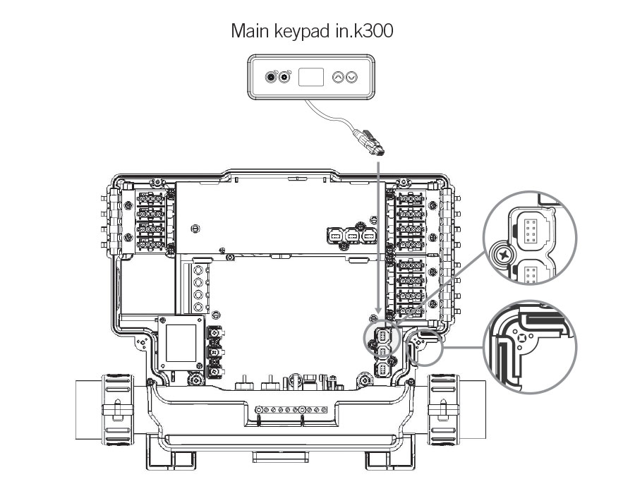 Connection of the in.k300 to the in.yt
