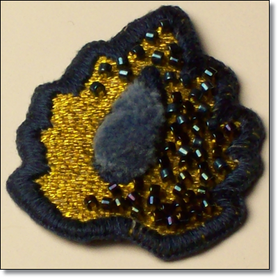 In this photo the center is worked in turkey stitch