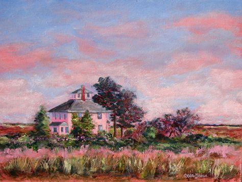 Tillies House (The Pink House), Oil by Christine Molitor Johnson