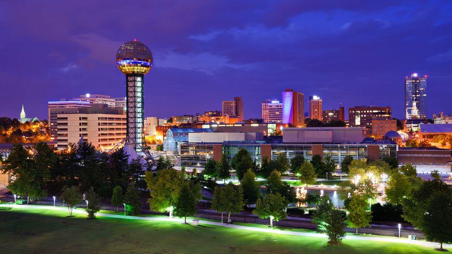 World's Fair Park and downtown skyline