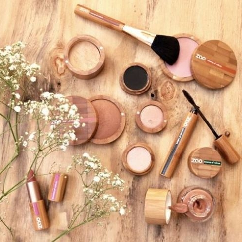 AFTER: Zao has make-up in bamboo containers that are refillable.