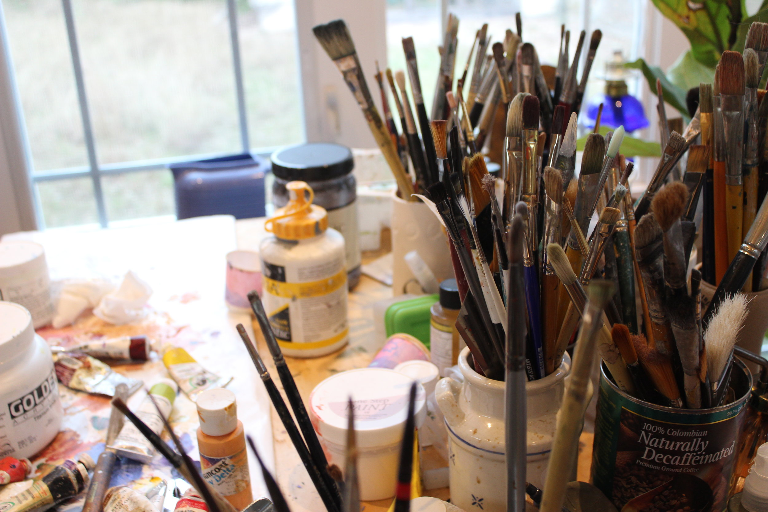 Cleve's in-home studio