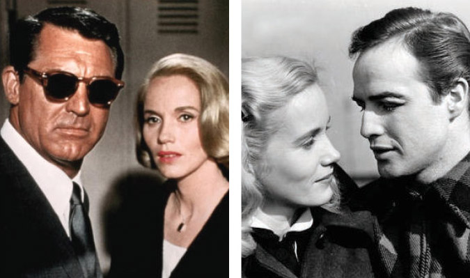 Cary Grant & Eva Marie Saint (Left), Eva Marie Saint & Marlon Brando (Right)