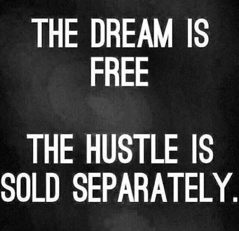 Motivation- the dream is free the hustle is sold separately .jpg