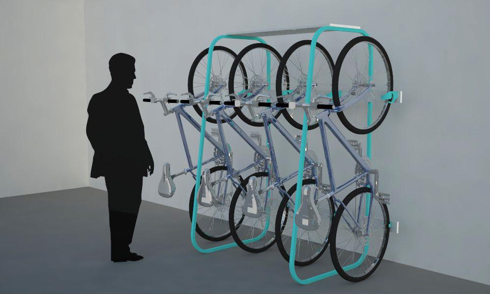 Vert Bike Rack  Vertically store multiple bikes...Cash your check in Chatsworth, you bike pornographer. We got you.