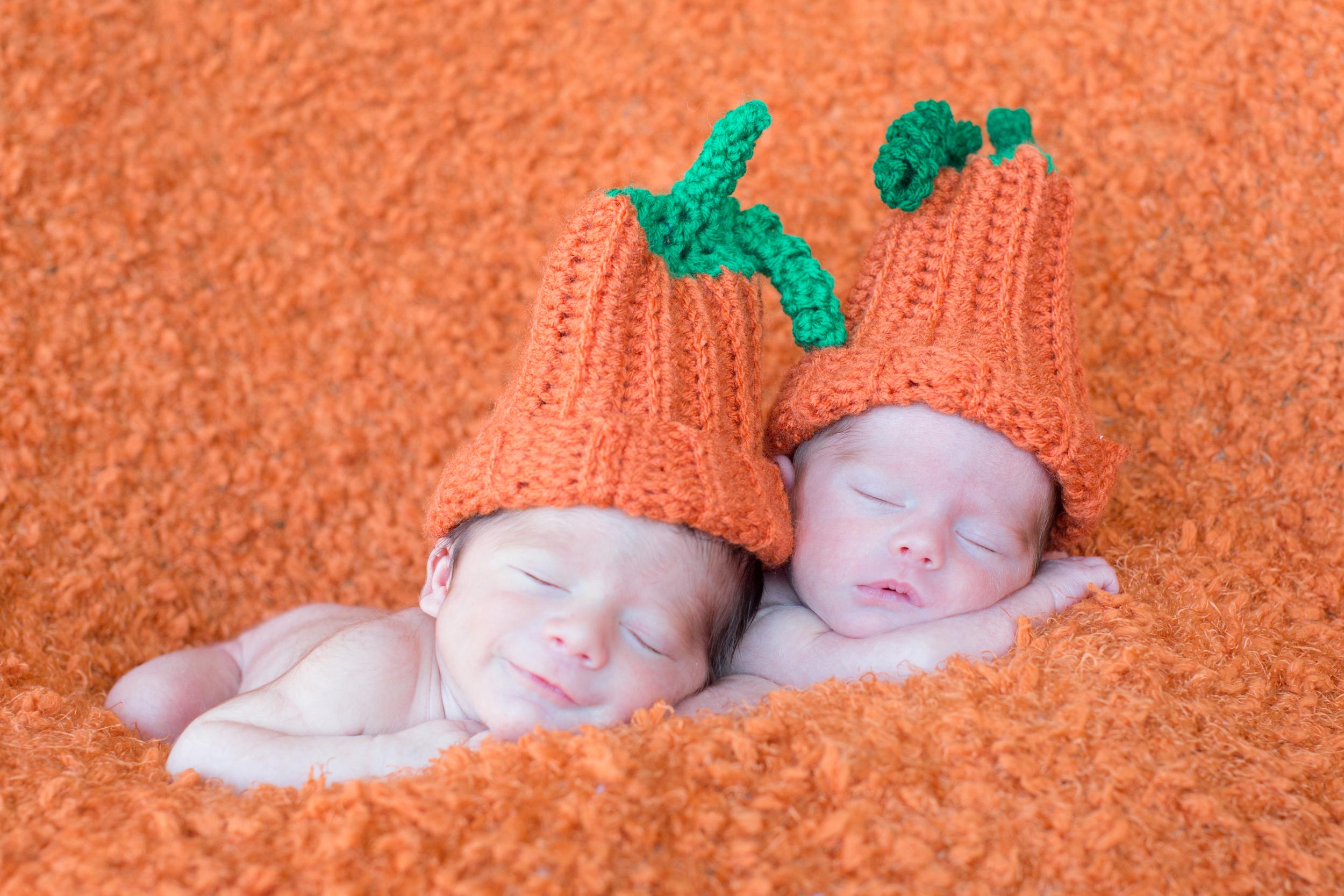 pumpkin twin newborn .jpg