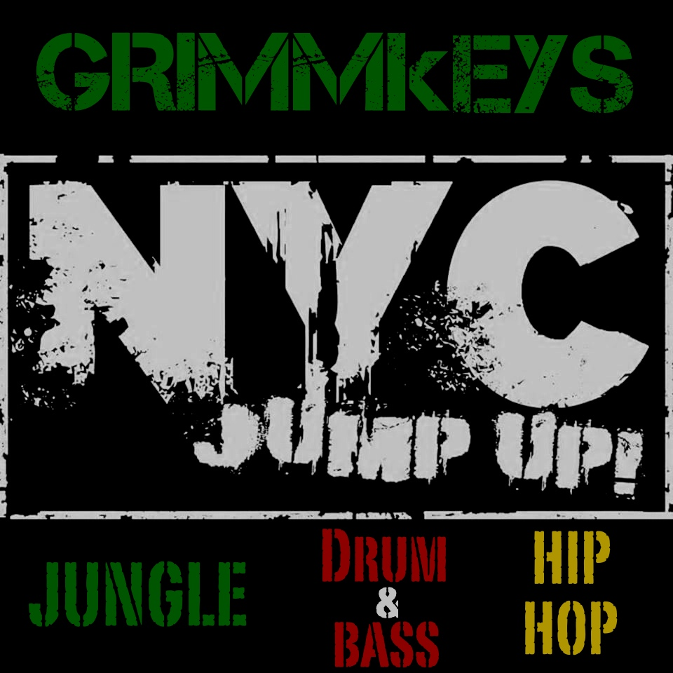 NYC JUMP UP GRIMMkEYS Jungle Drum & Bass Hip Hop Logo 4.jpg