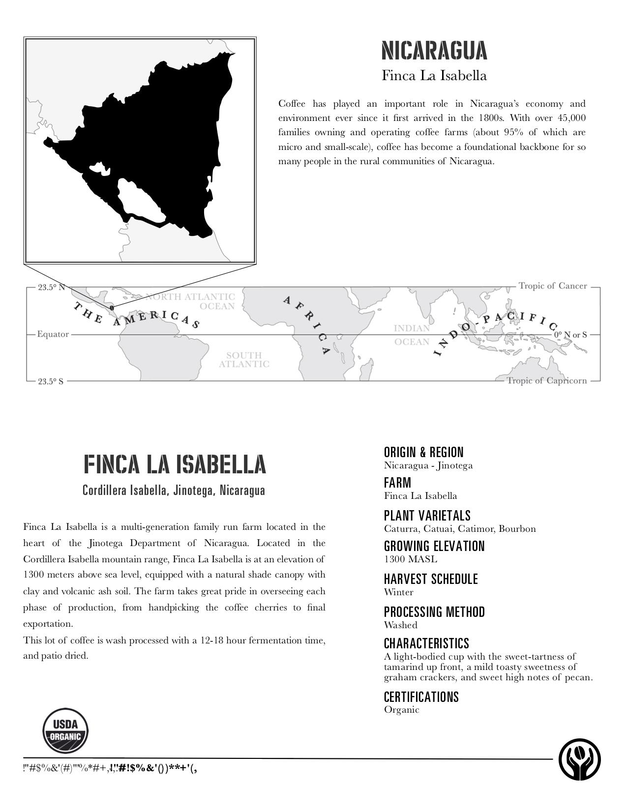 Nicaragua Finca La Isabella (Organic)