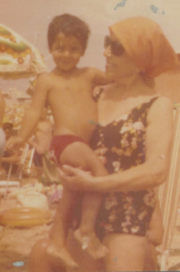 One of my favorite pictures, my brother and my grandmother on the beach in 1977