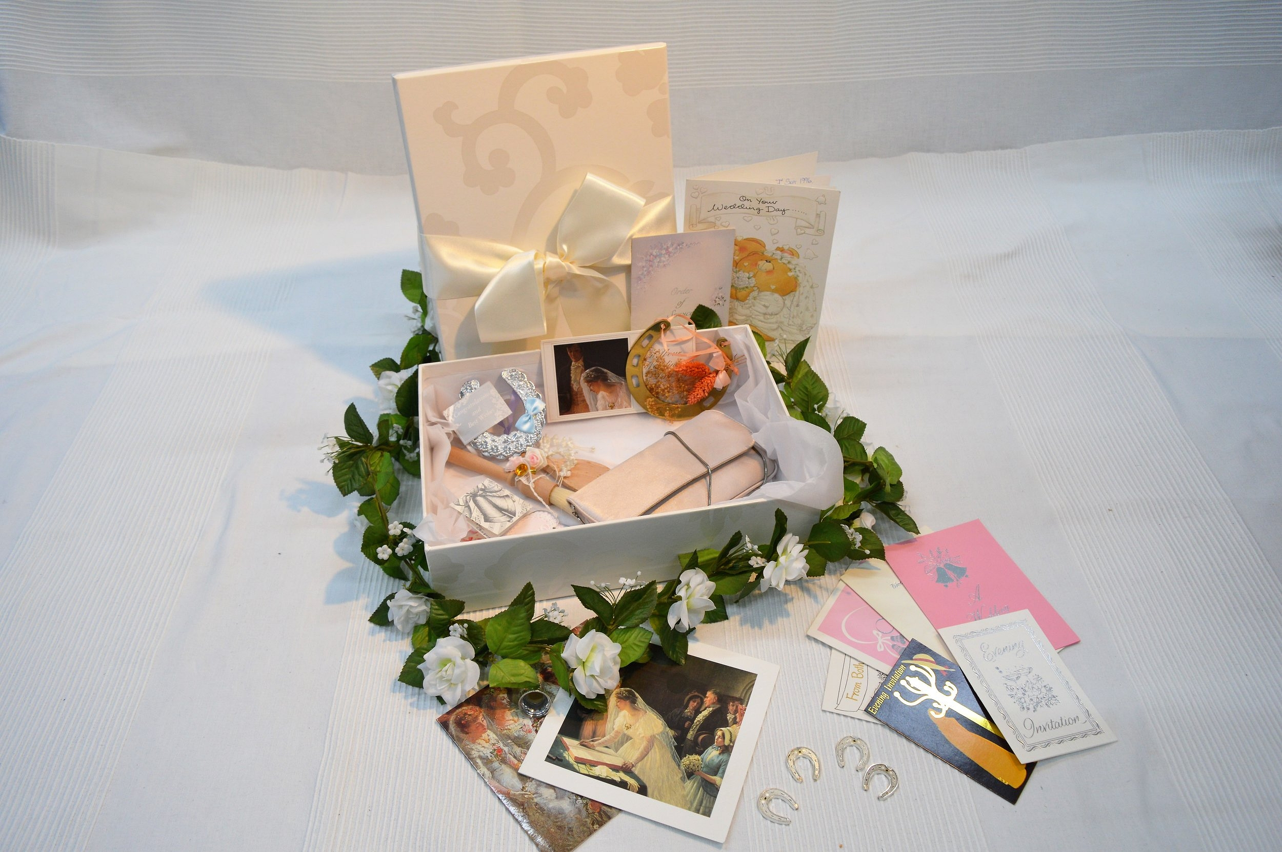 Our smallest box is suitable as a keepsake box for those cherished items that cannot be stored with your dress.