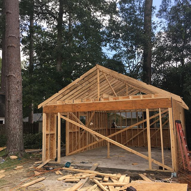 From foundation to framing in two days! This 18x24 detached garage will be used as a haven for rebuilding classic cars!