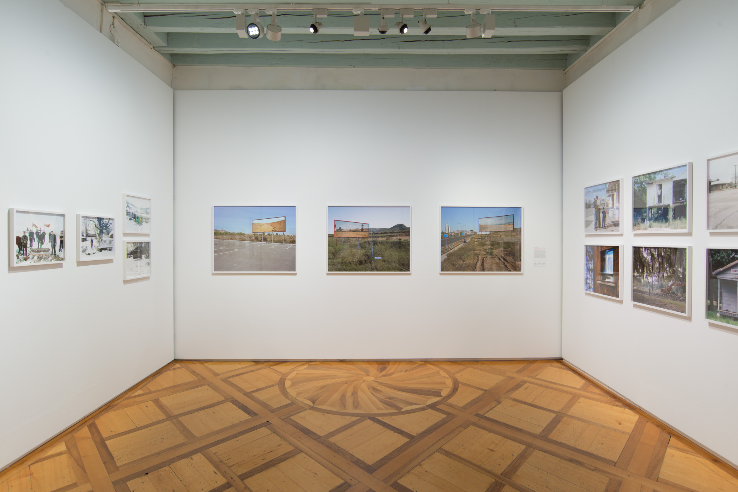 Imported Landscapes , site specific installation and C-type photographs, Corinne Silva 2010. installation view, reGeneration3, Musée de l'Elysée