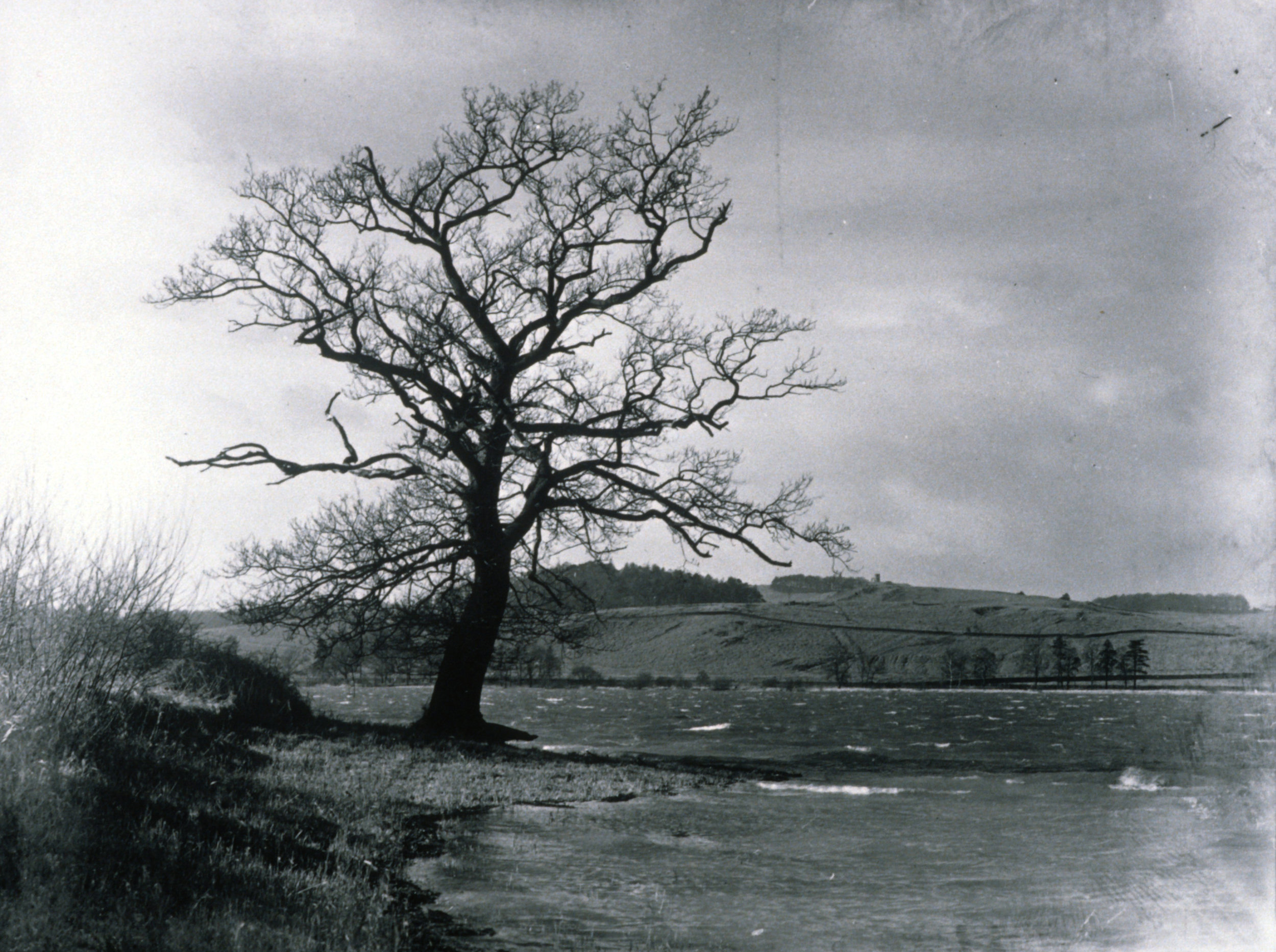 Photograph by F.L. Attenborough, date  and location unknown. Made while journeying with historian W.G. Hoskins, author of 'The making of the English landscape'. With permission of the Centre for English Local History, University of Leicester.