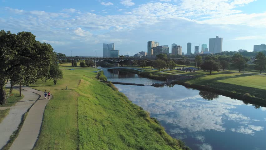 Trinity Park & Panther Island - The park stretches along the banks of the Trinity River and winds around the city, creating easy access to various settings and landscapes from woods, the iconic railroad and bridges connecting to downtown, greenery and fields around the duck pond, or the beautiful Fort Worth skyline.