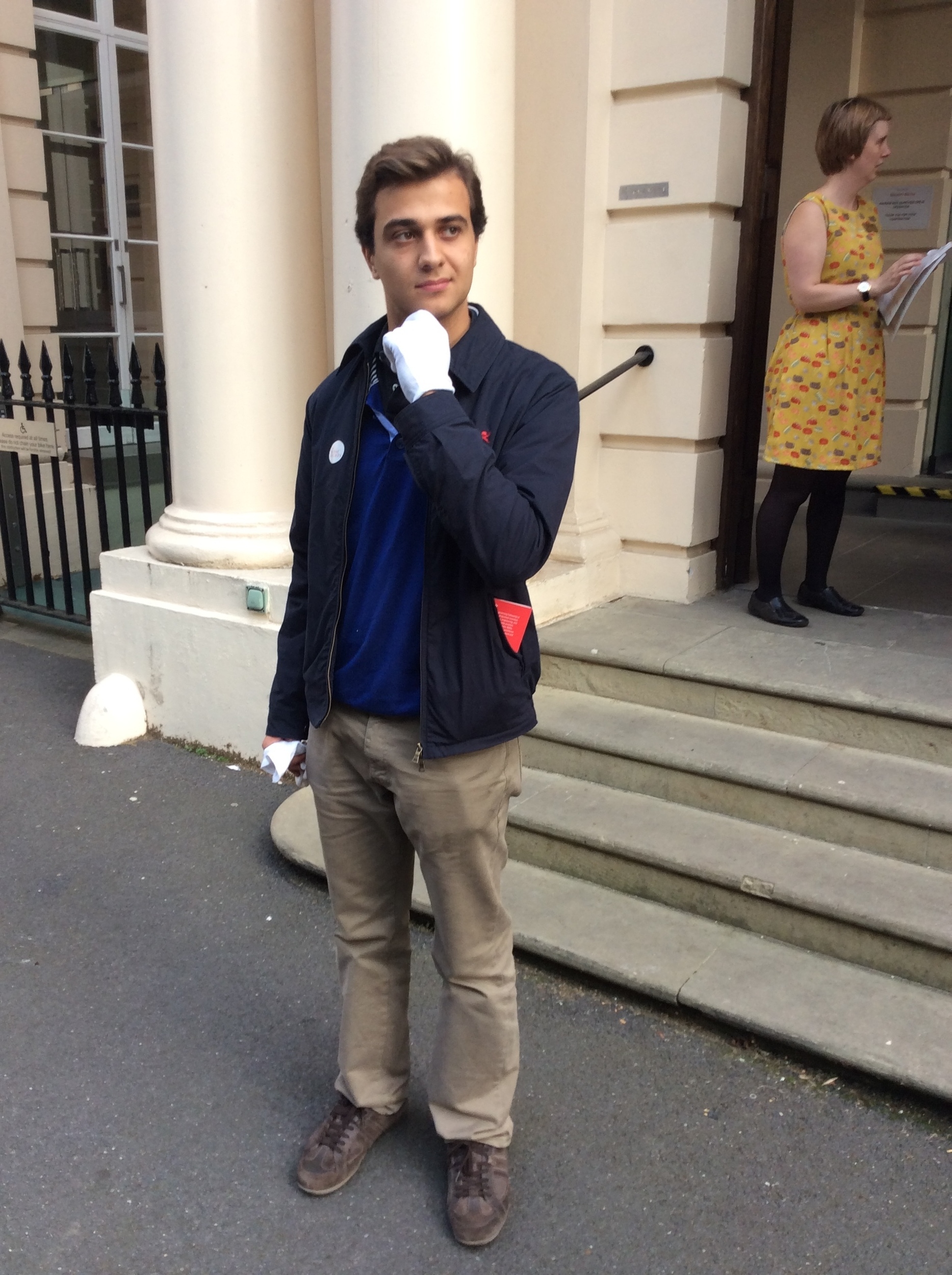 Nicolas outside the Royal Society building
