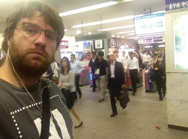 Devin is commuting in Tokyo