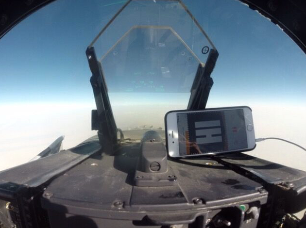Viper listens while flying a fighter jet