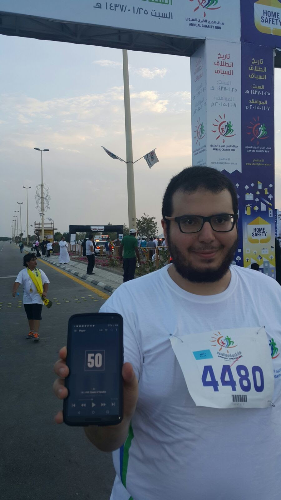Omar is getting fit in Saudi Arabia