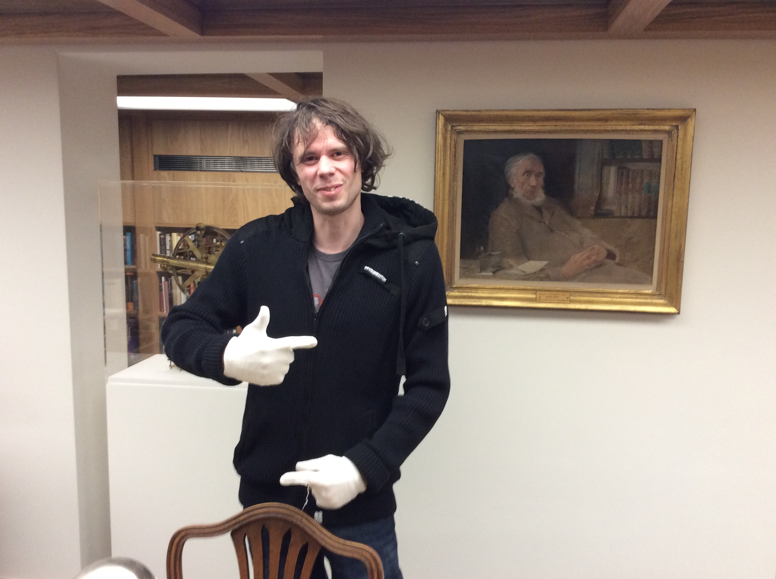 Aaron from Surrey checked out some of John Gould's birds.