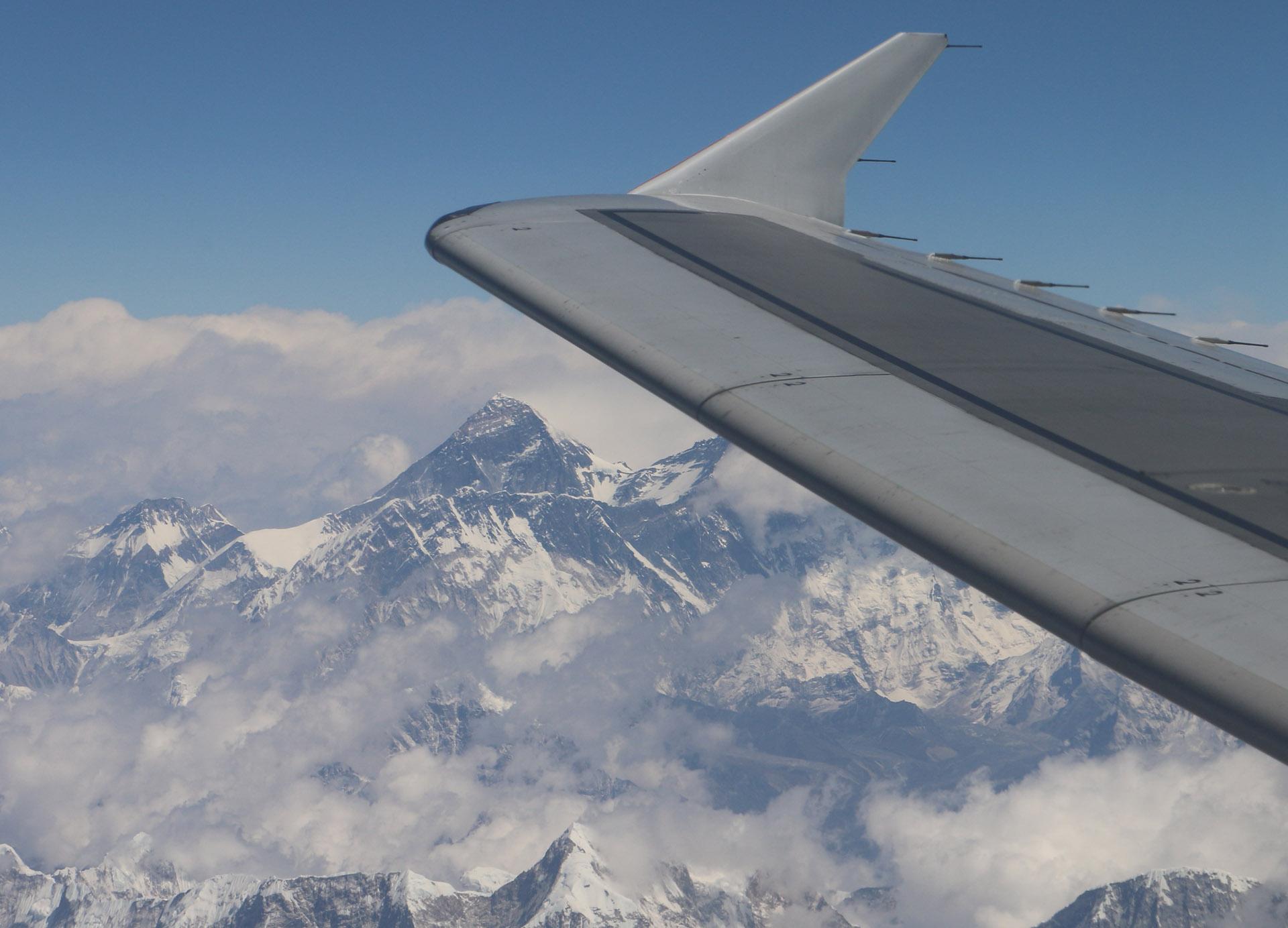 Everest Under Wing