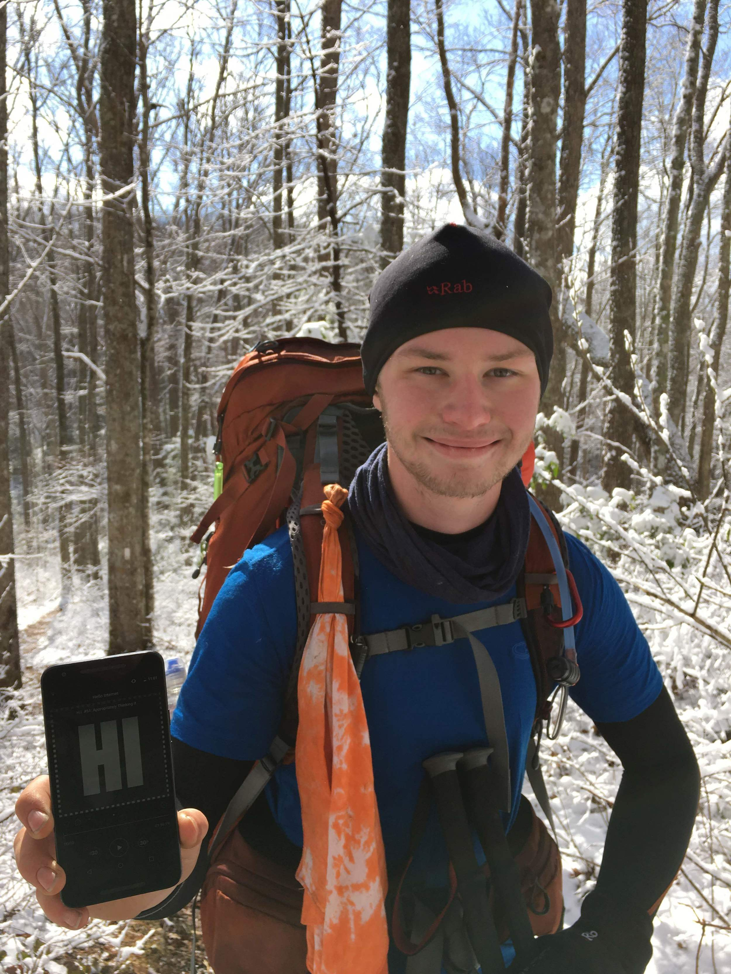 Chris on the Appalachian Trail
