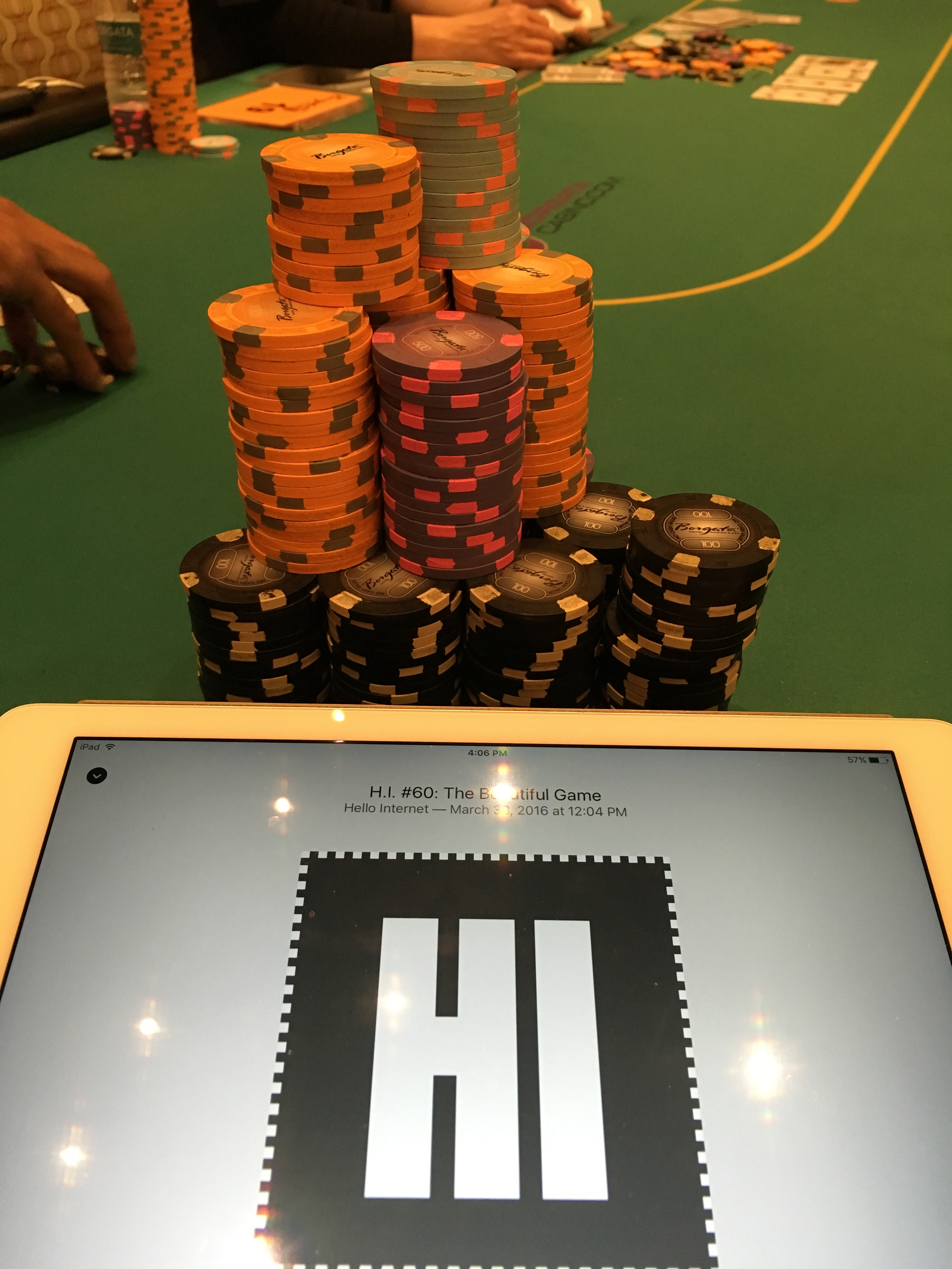 High stakes tournament poker!