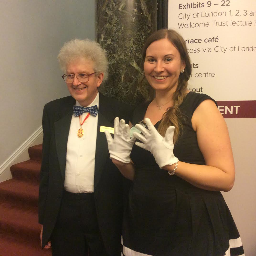 Zoe from Warwick University with Sir Martyn Poliakoff, foreign secretary at the Royal Society