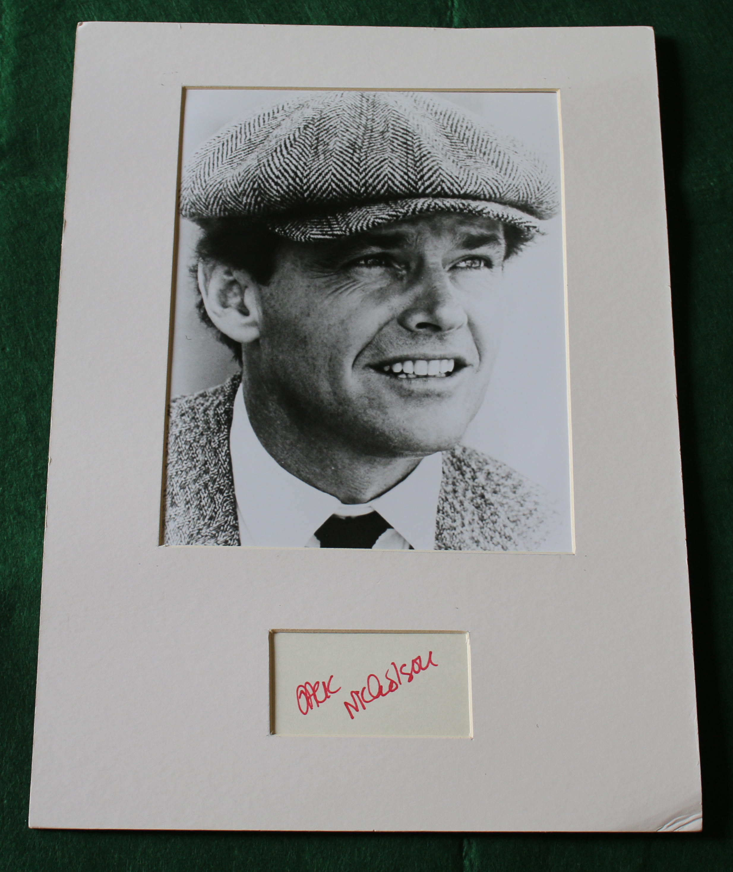 Questionably 'signed' Jack Nicholson picture (From Brady to Tim)    BUY THIS
