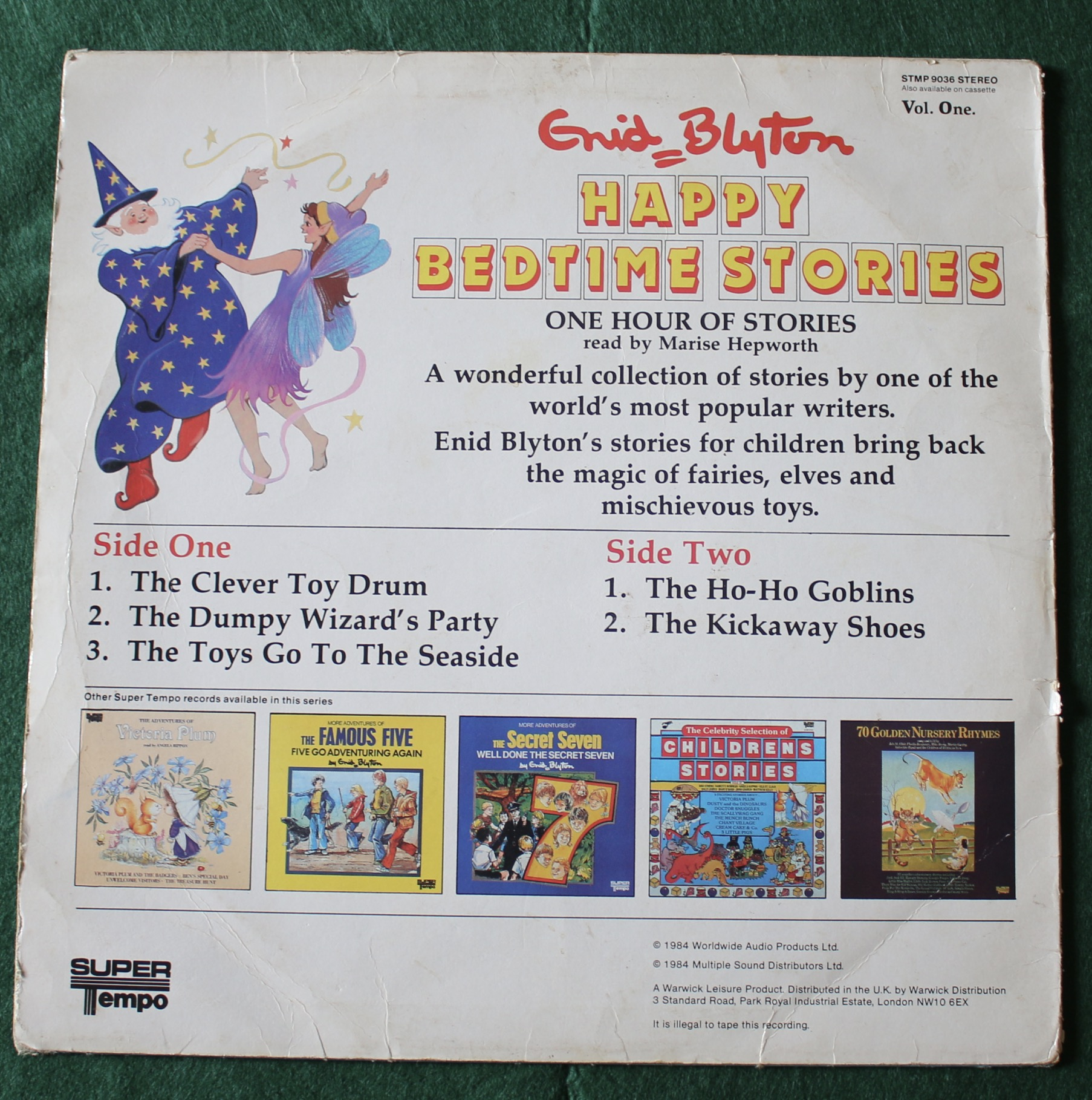 Happy Bedtime Stories by Enid Blyton (From Brady to Tim)   BUY THIS