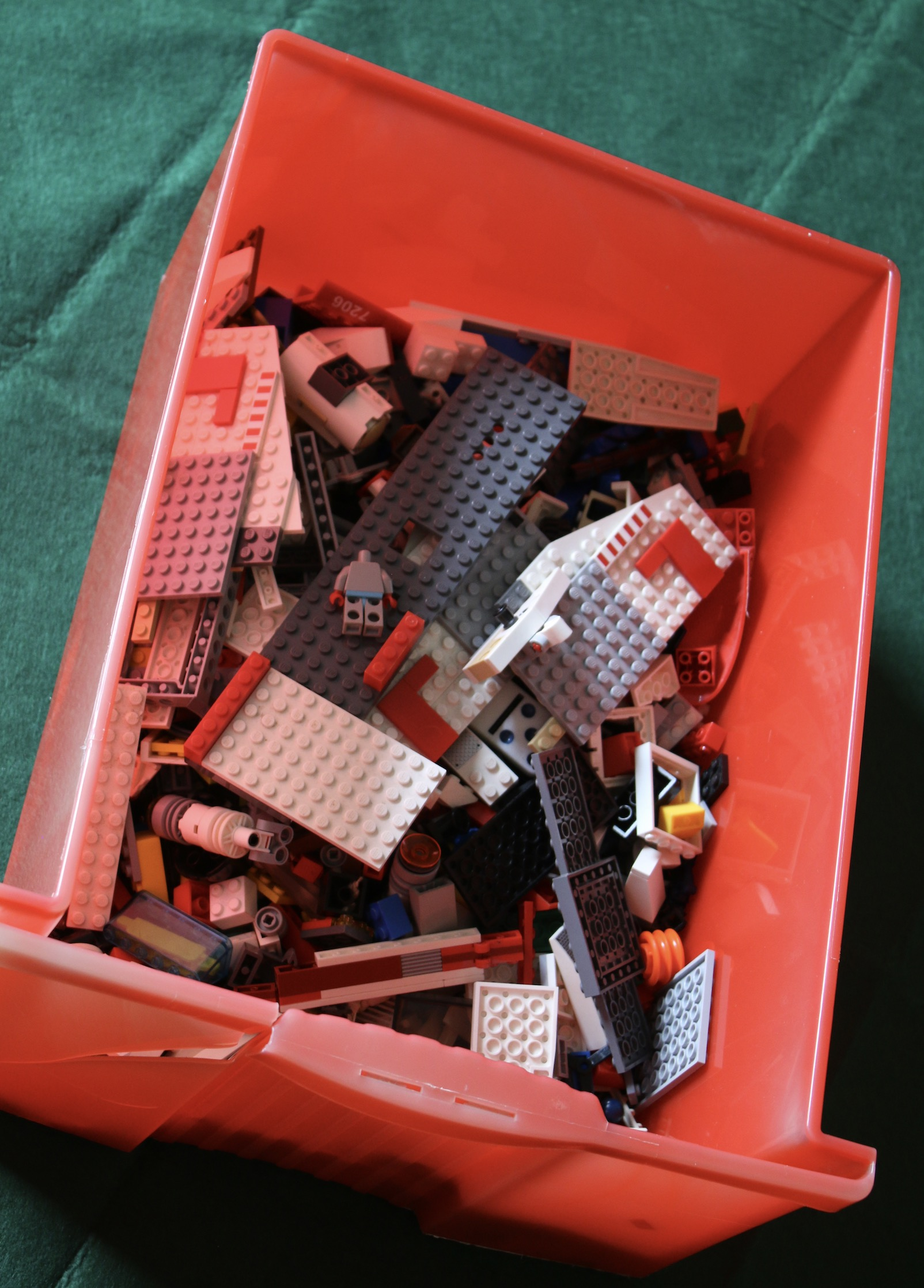 A massive box of Lego (from Tim to Brady)